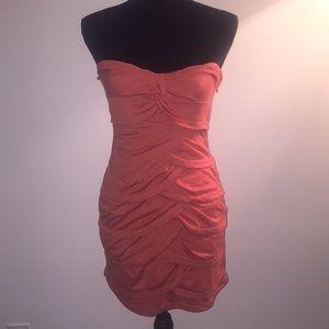NWOT Orange scalloped Misope Dress Sz. Med